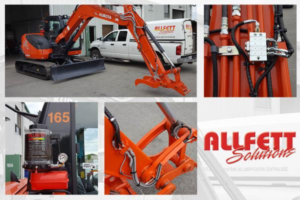 Graissage automatique - Mini excavatrice